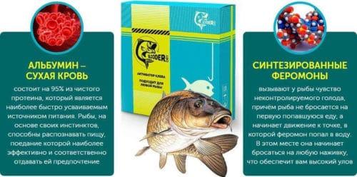 Приманка для рыбы на основе феромонов